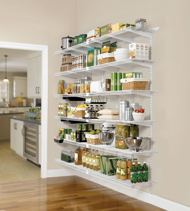 Awe Inspiring Wire Shelving For Pantry With Stainless Steel Large