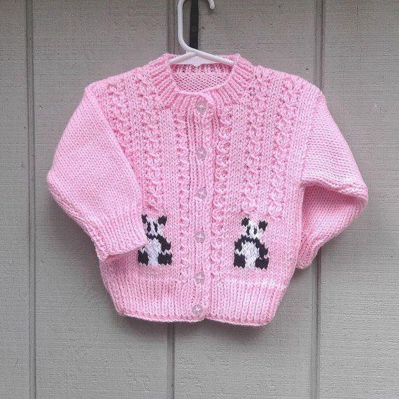 890012cfa2f Panda pink cardigan - 12 to 24 months - Toddler girl panda motif ...
