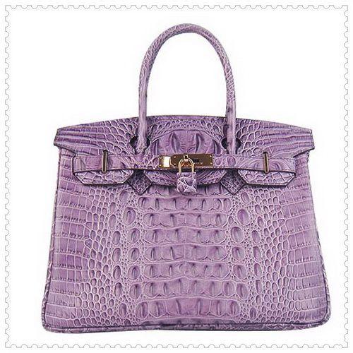 Hermes Birkin Tote Bag Purple