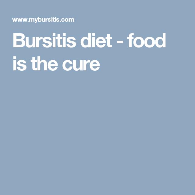 JOHANNA: Bursitis diet
