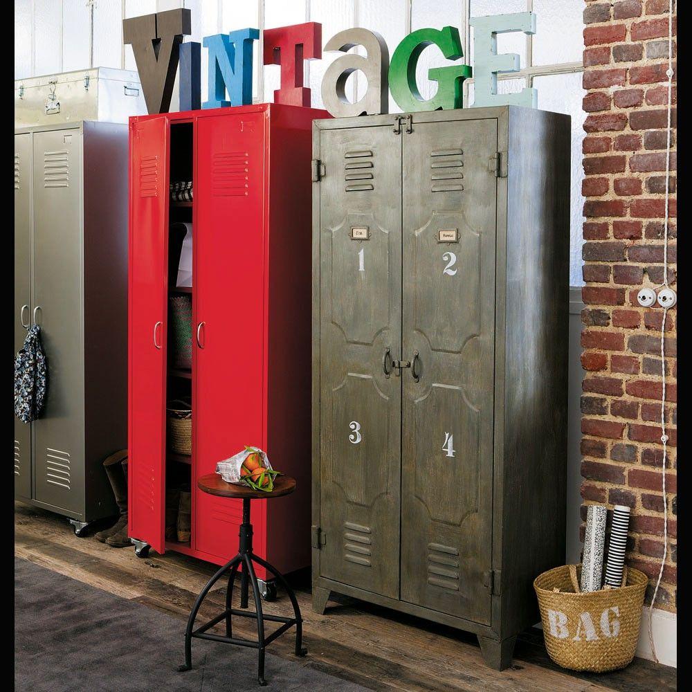 Metal locker closet in 2020 Metal lockers, Metal storage