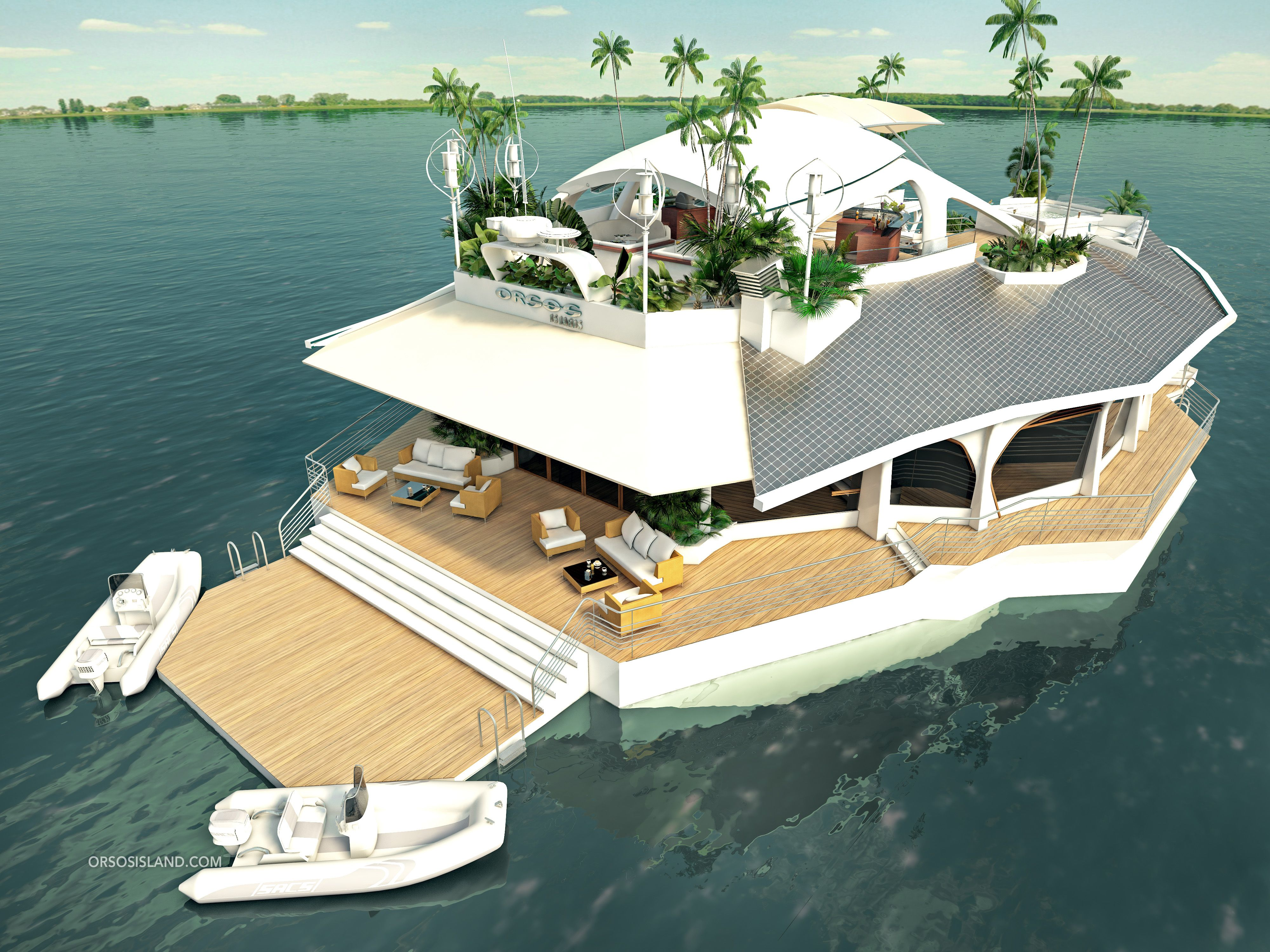 Superior Boasting Six Double Bedrooms And M² Of Living Space, The Orsos Island Was  Designed To Combine The Best Of Mainland Real Estate And A Super Yacht At A  . Design Ideas