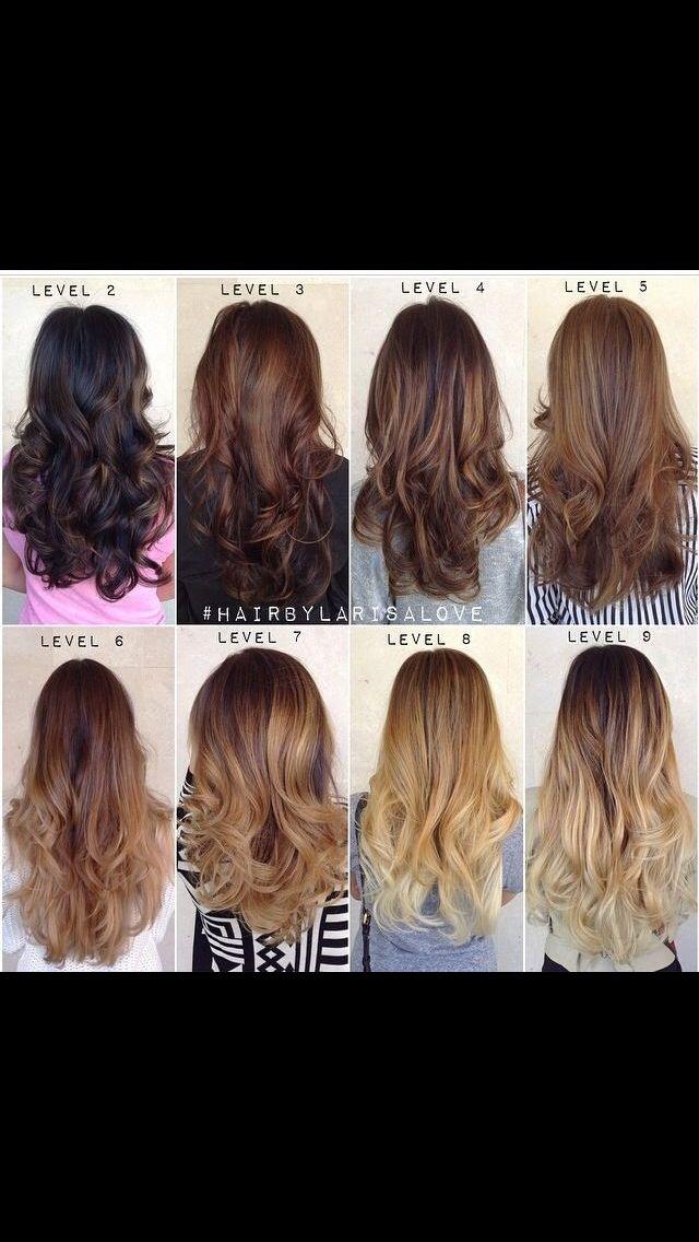 Level Chart So Helpful Brown Hair Tones Brown Hair Shades Ombre Hair Blonde
