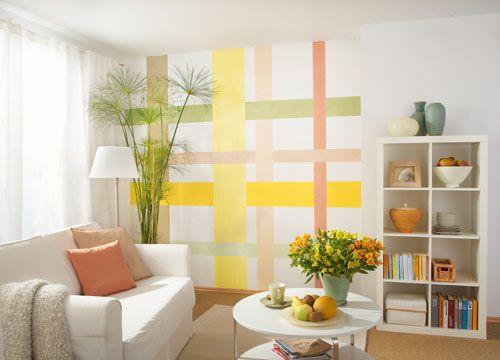 Decorare le pareti in modo originale senza stendere il colore su tutta la superficie pu essere - Idee pittura pareti ...