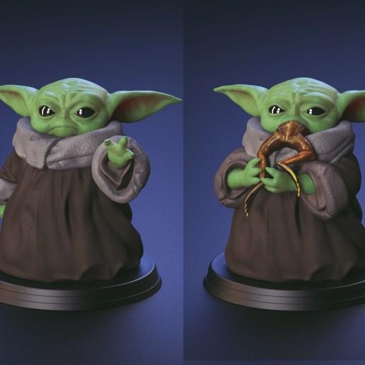 Baby Yoda Using The Force And Eating Frog Fan Art Art Baby Eating Fan Force Frog Using Yoda Fan Art Birthday Card Puns Yoda