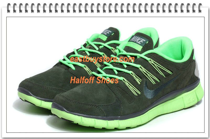 pick up 11c91 48e98 Free Shipping to Buy  72 Nike Free 5.0 V2 Mens Suede Grey Green 52% off