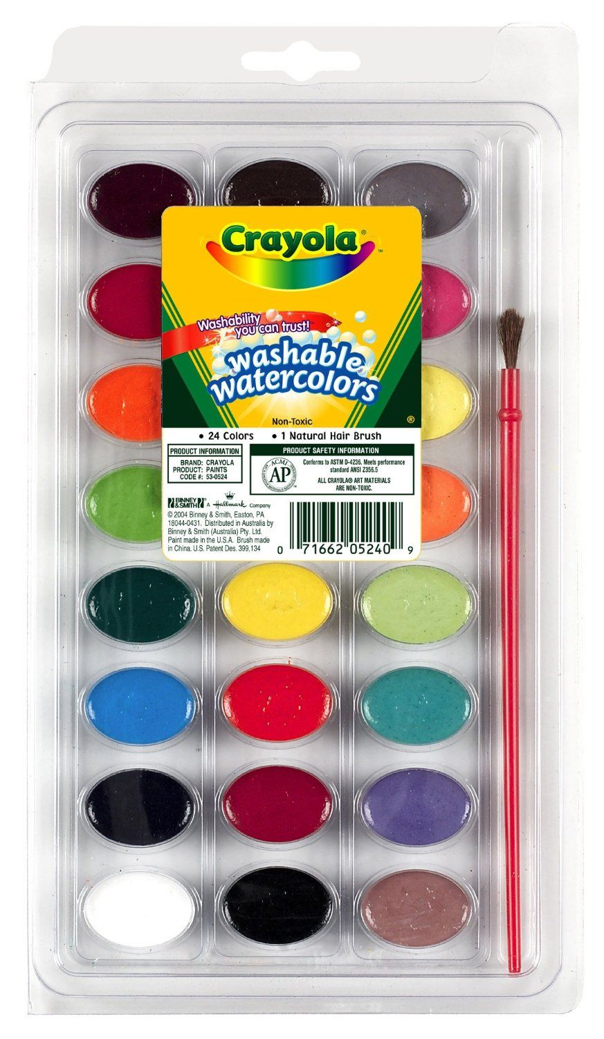 Crayola Washable Watercolors 24ct Pan W Brush 6 99 Acuarelas
