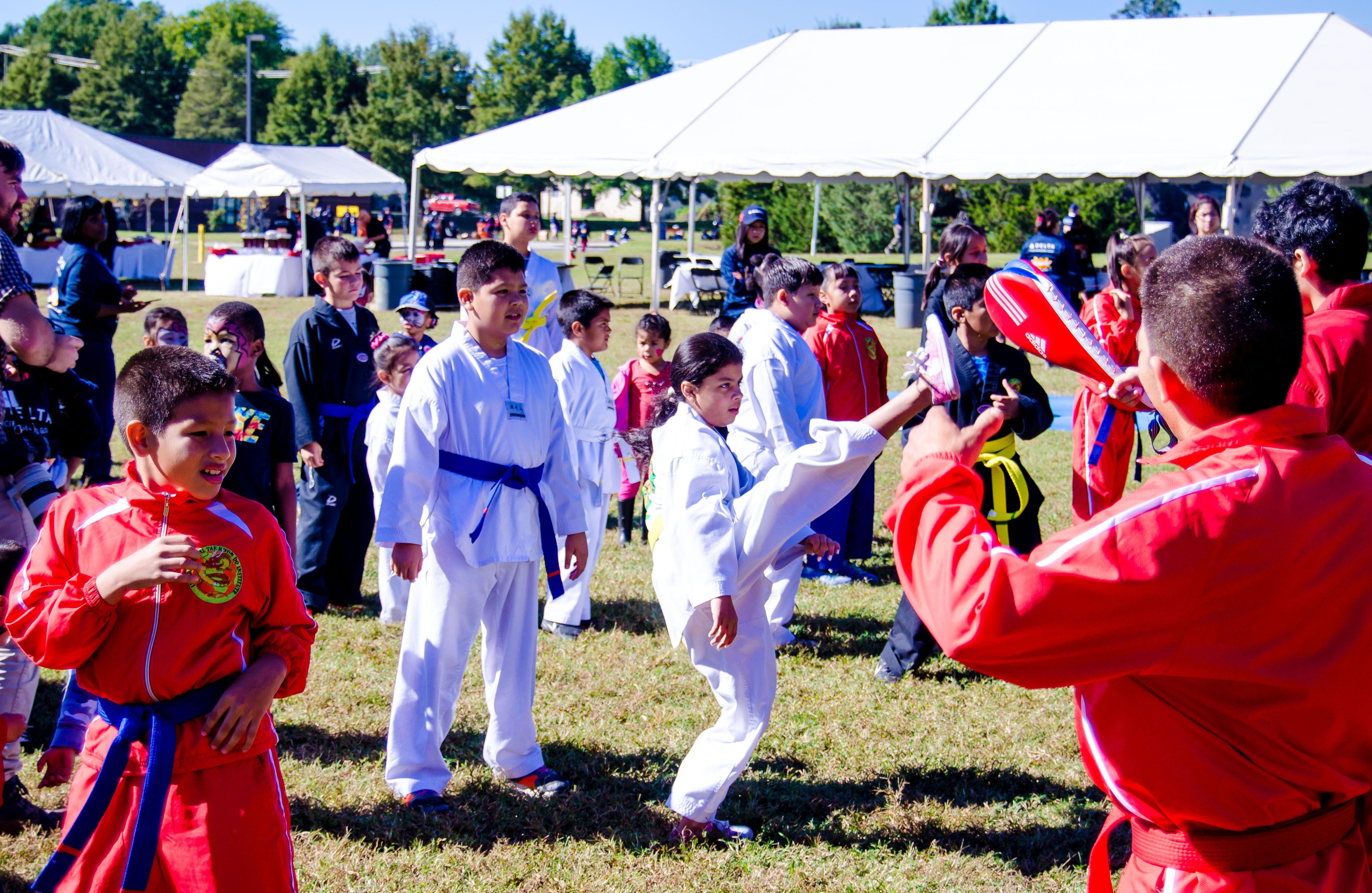 Kids karate class demonstration karate classes karate