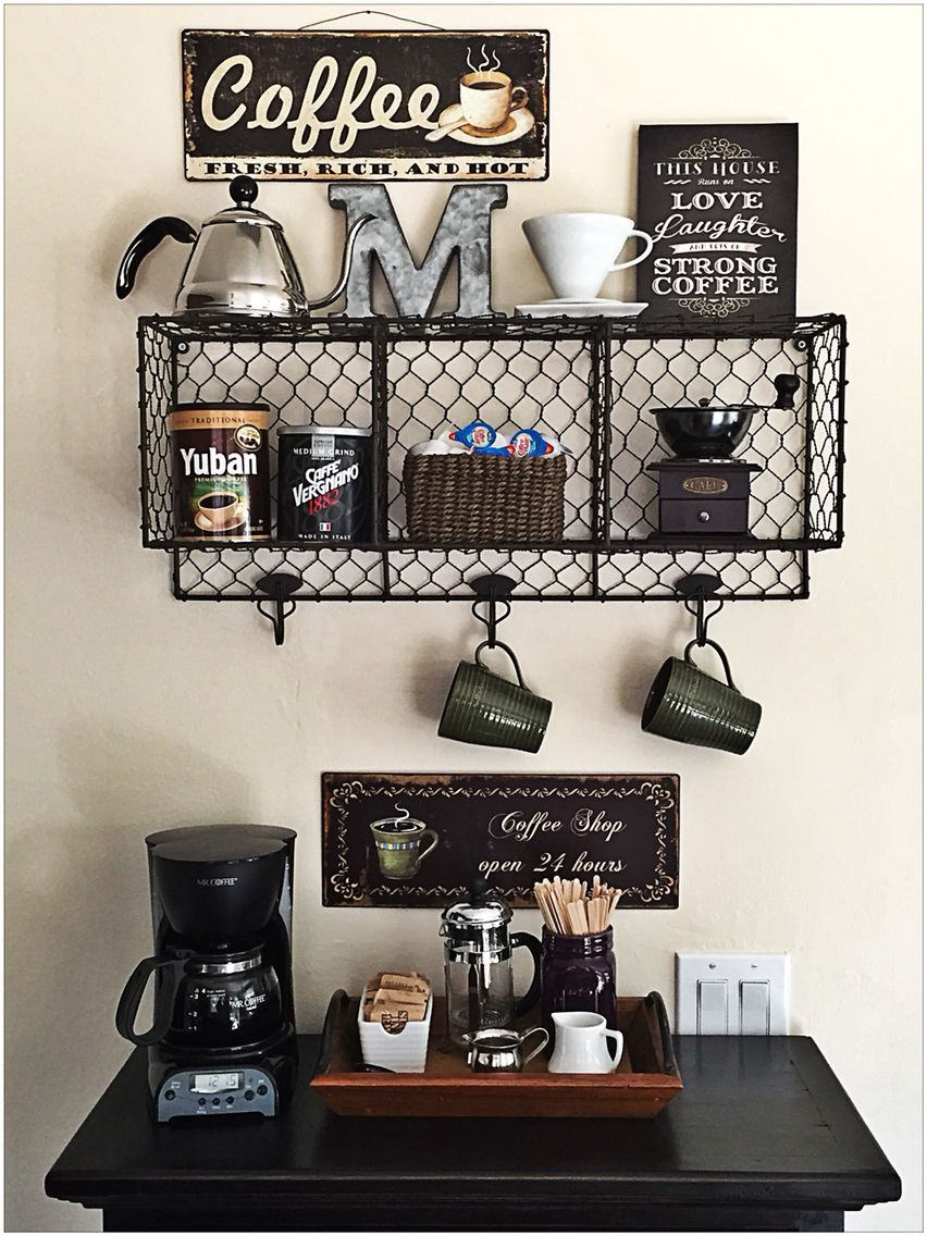 Astounding 50 Diy Coffee Bar Ideas Inside The Home For Coffee Gmtry Best Dining Table And Chair Ideas Images Gmtryco