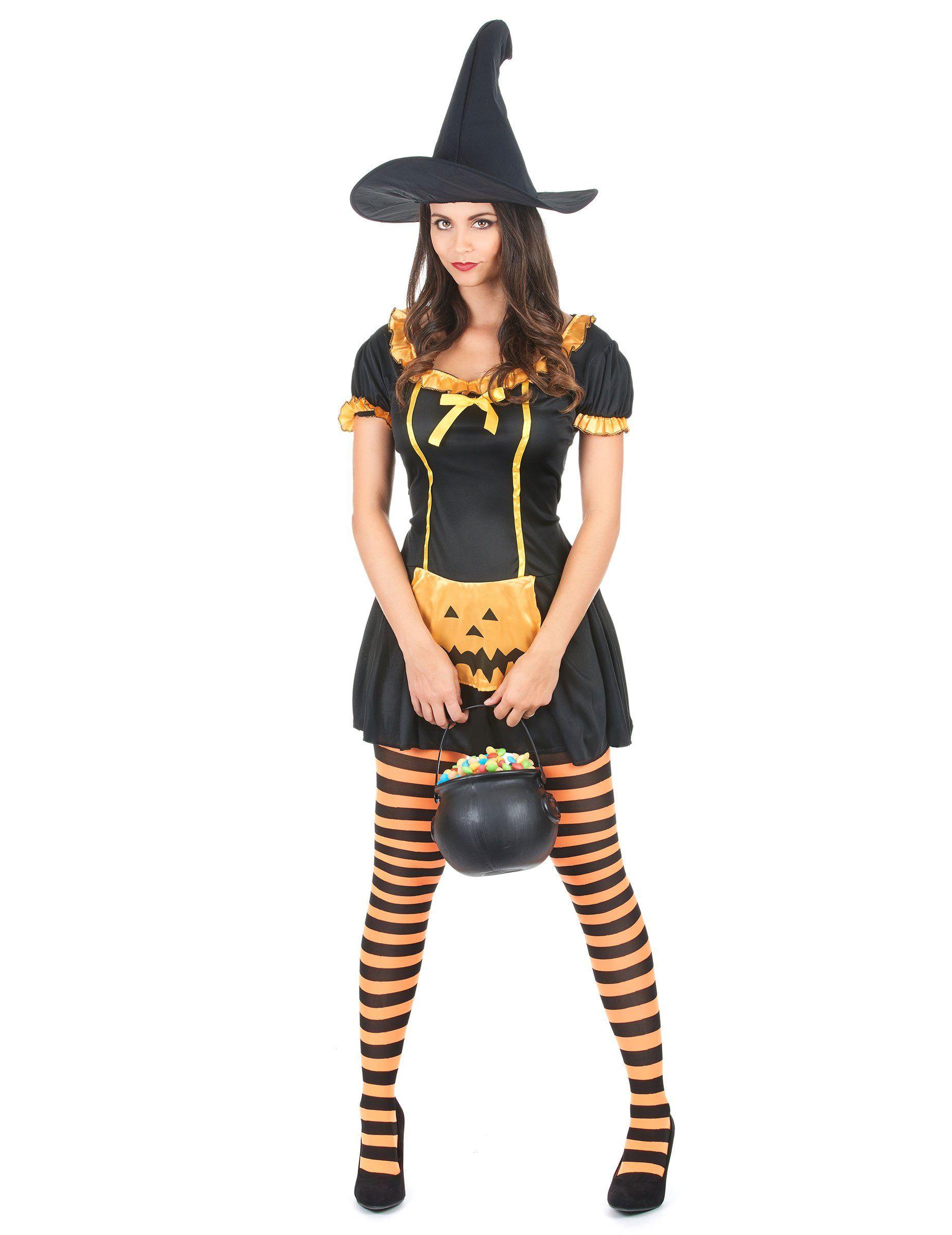 3c10a5562001 Disfraz de bruja calabaza para mujer ideal para Halloween