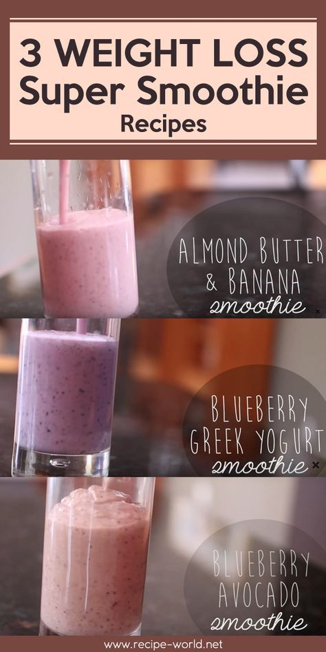 Weight Loss Super Smoothie Recipes! images