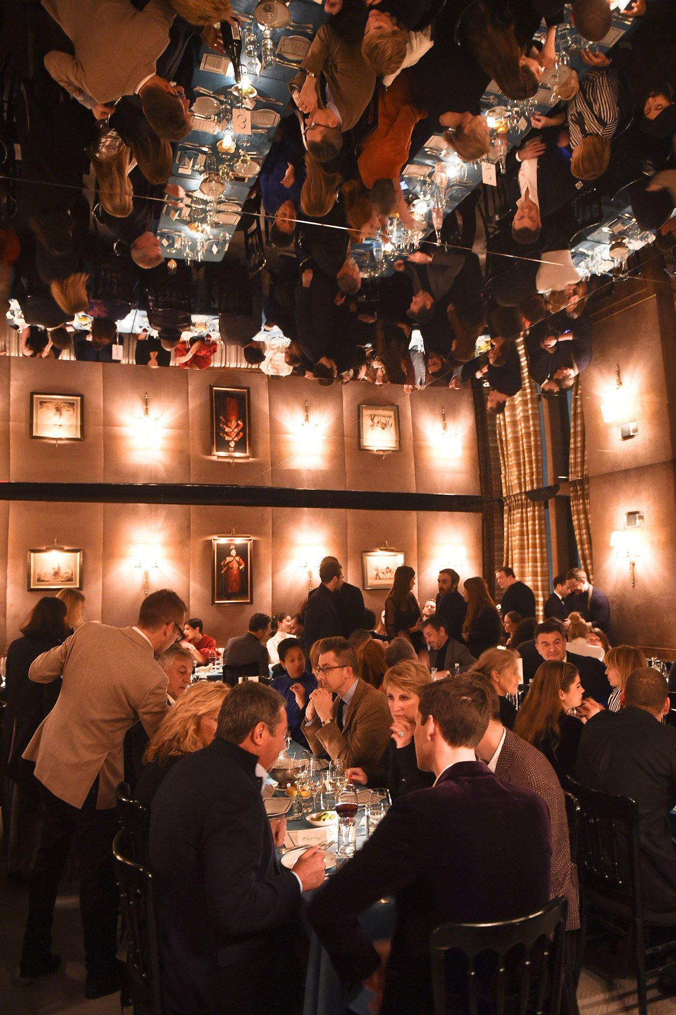 The scene during dinner at Caviar Kaspia at Spring Place.