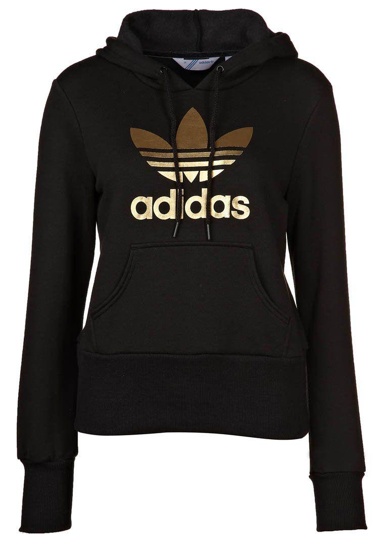2bafb2e01f TREFOIL HOOD - Hoodie - black gold £50 Adidas Sweatpants