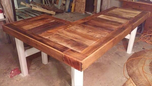 We have made this diy pallet l shaped desk which is just for Pallet corner bench