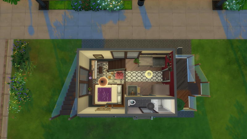 There S A Massive Tiny House Community In The Sims 4 Sims 4 Modern House Tiny House Community Tiny House Plans