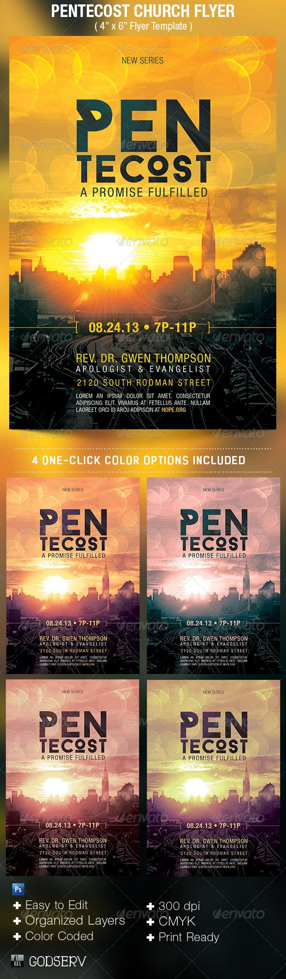 Pentecost Church Flyer Template  Pentecost Flyers And Flyer Template