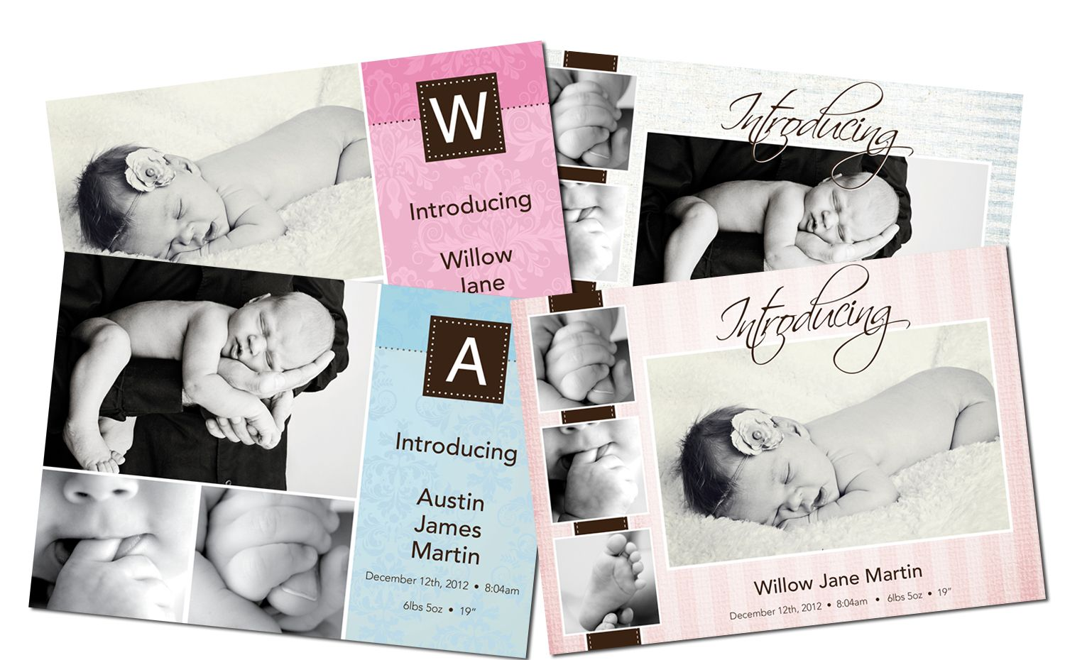 New Baby Announcement Templates – Free Baby Announcement Templates Photoshop