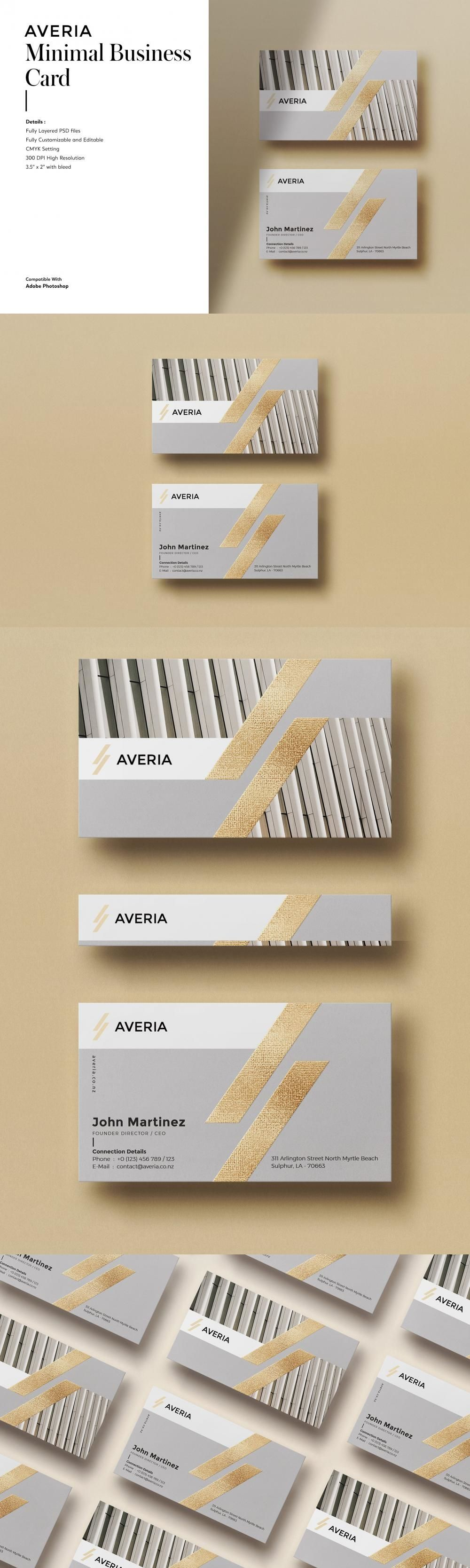 Minimal Business Card Template Businesscardtemplate Vintage Letter Businesscardtempla In 2021 Minimal Business Card Business Cards Creative Cleaning Business Cards