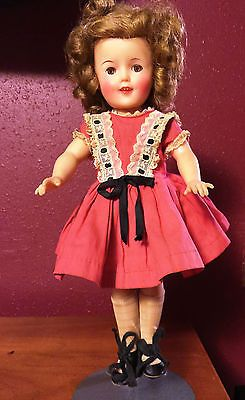 Vintage Beautiful 12 Inch Shirley Temple Doll By Ideal Vinyl Girls Dresses Flower Girl Dresses Shirley Temple