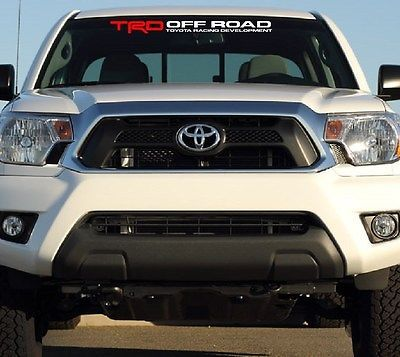 TRD OFF ROAD TOYOTA RACING DEVELOPMENT WINDSHIELD DECAL TRD - Vinyl decals for race carspopular trd vinyl decalbuy cheap trd vinyl decal lots from china