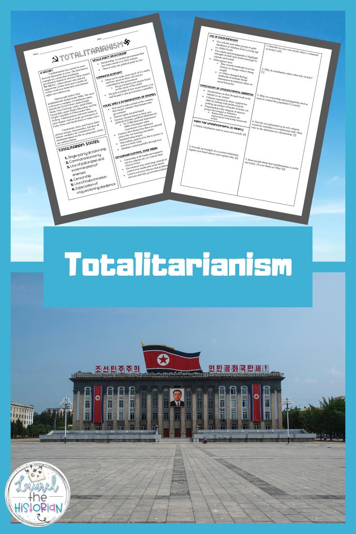 Totalitarianism Worksheet In 2020 High School Art Lesson Plans Social Studies Elementary High School Social Studies [ 1102 x 735 Pixel ]