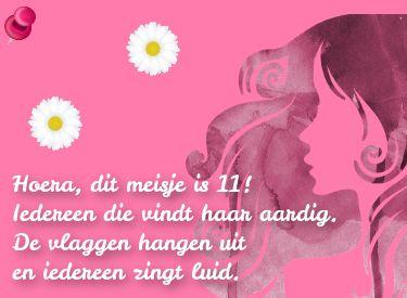 Hoera 11 Jaar Verjaardagswens Voor Een 11de Verjaardag