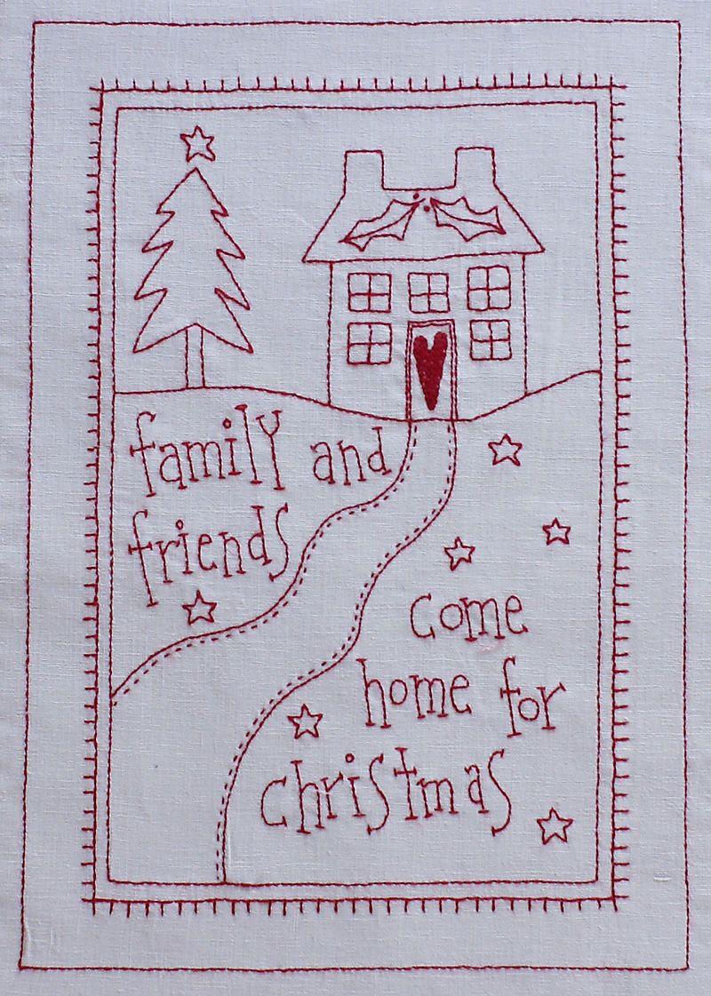 redwork embroidery weihnachten pinterest patchwork. Black Bedroom Furniture Sets. Home Design Ideas