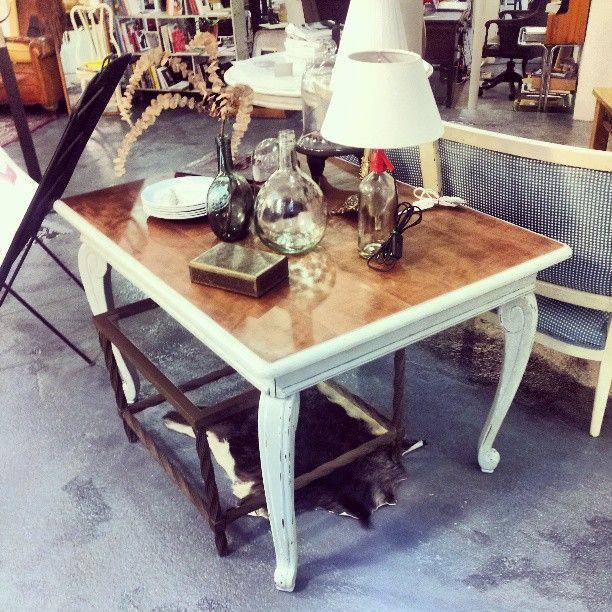 Mesa para comedor o salon restaurada con tablero en - Decoracion para mesas de comedor ...