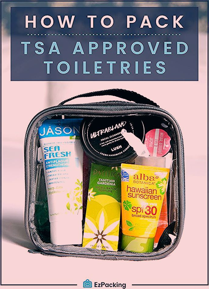Photo of What Items are Allowed in My TSA Approved Clear Toiletry Bag?