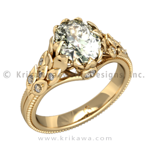 Vintage Wreath Engagement Ring in Yellow Gold $2,935