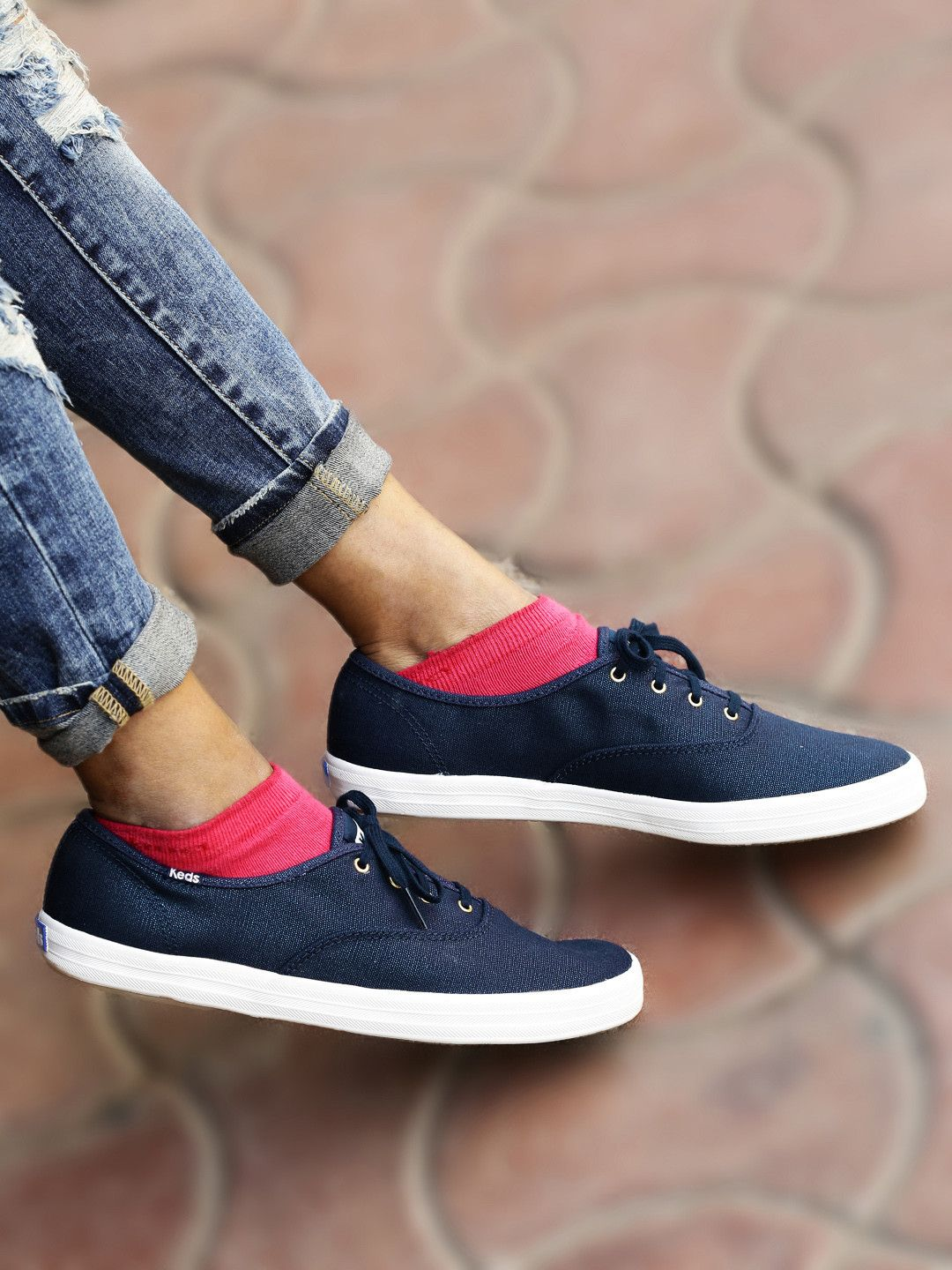 150403dd17 Buy Keds Women Navy CH Metallic Canvas Solid Sneakers - Casual Shoes for  Women | Myntra