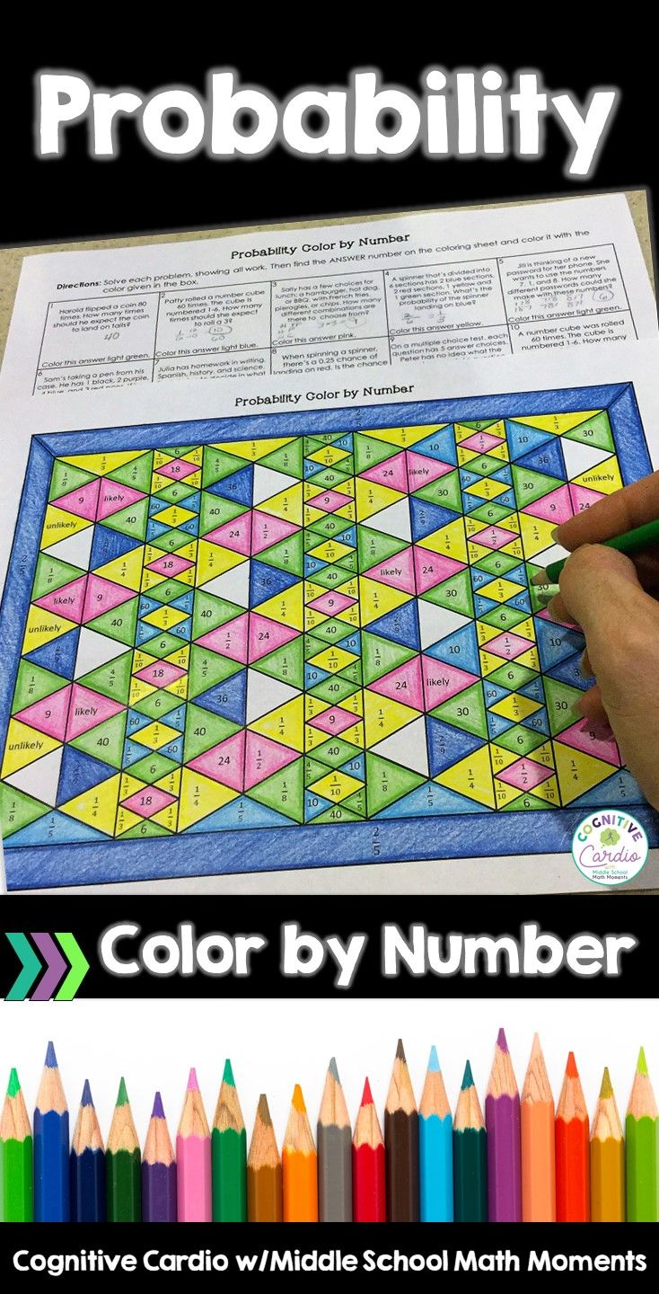 Probability Color by Number | Math, Students and Number