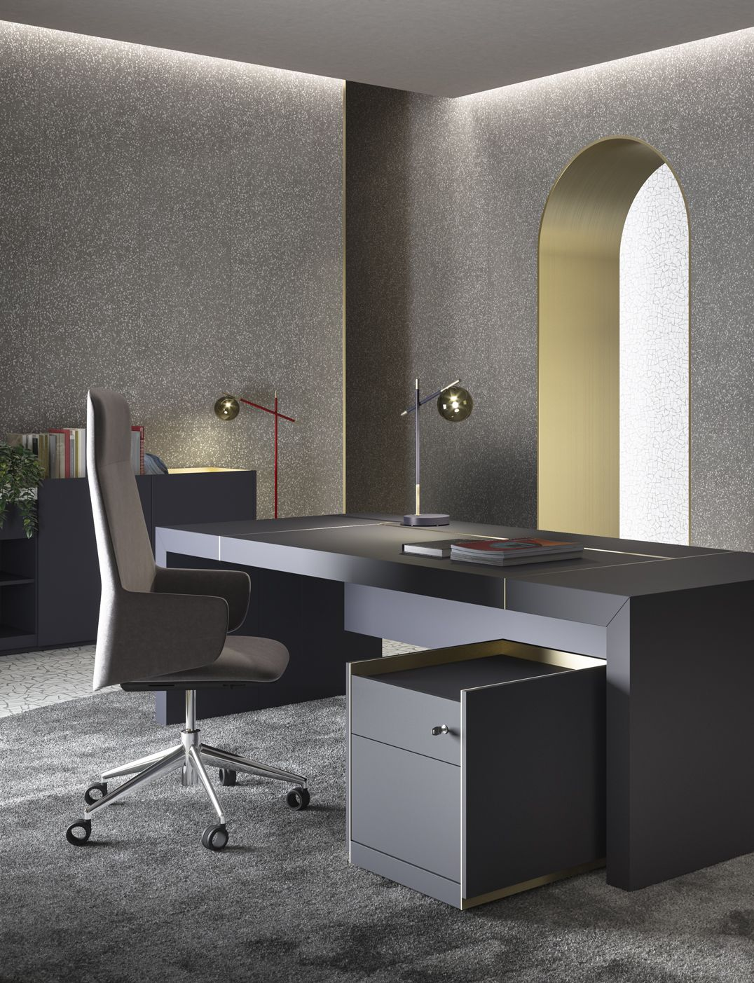 Block 2 0 Executive Office Desk By Prof Office Ad Rmdesignstudio Office Table Design Modern Office Space Design Home Office Design