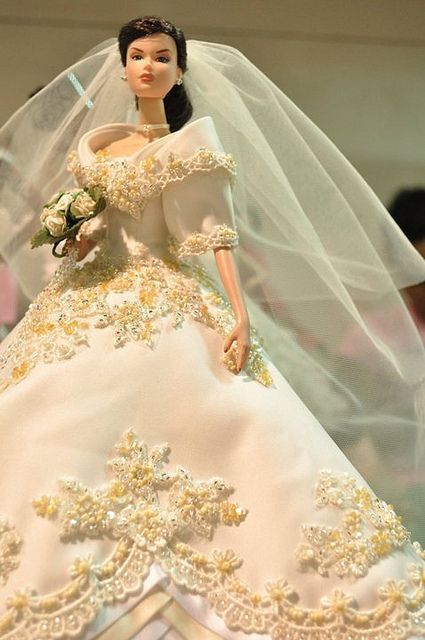 Barbie dressed in a Philippine Maria Clara Bridal Gown by Ma\'tto ...