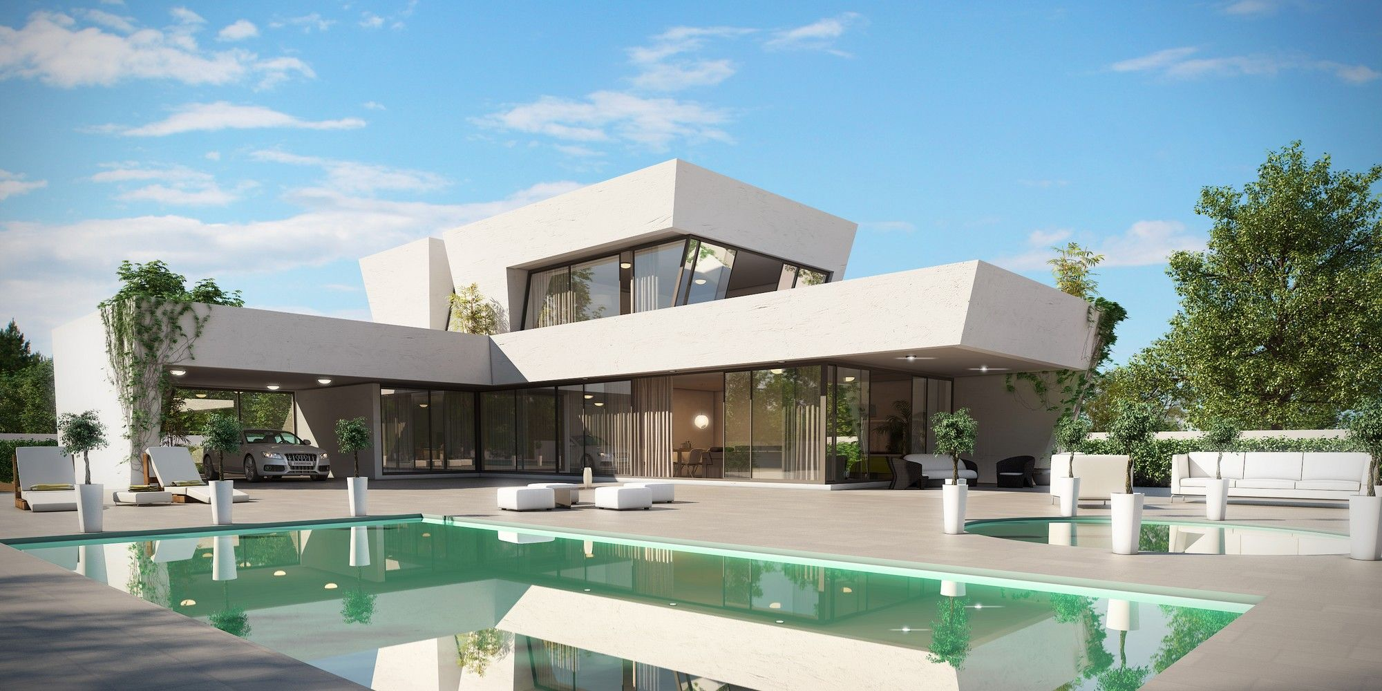 Dise o ideal para parcelas estrechas casas modernas - Diseno casas modernas ...