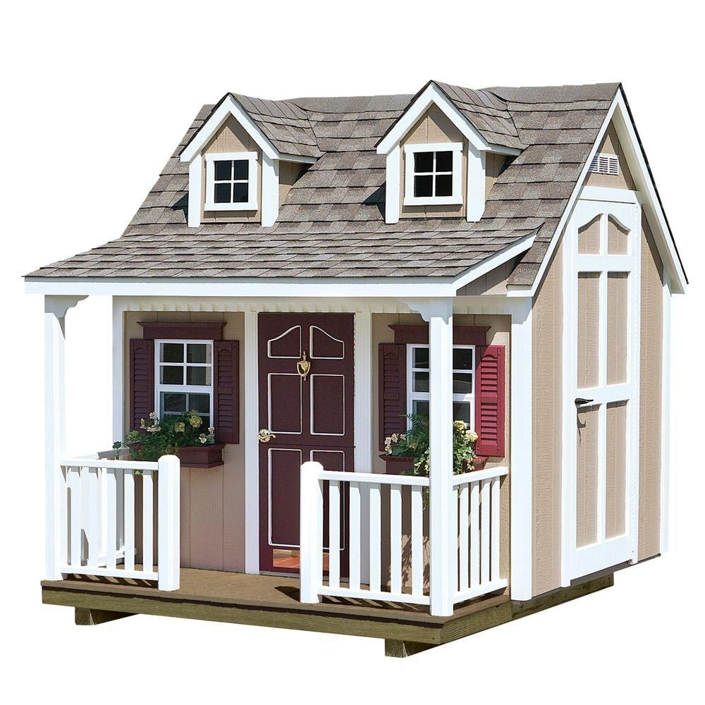 homeplace structures 8 ft x 9 ft backyard cottage playhouse with