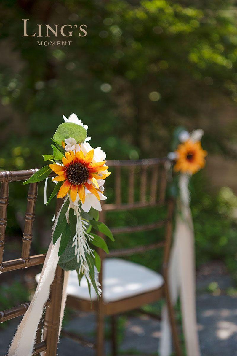 Wedding Aisle Decoration Pew Flowers (Set of 8
