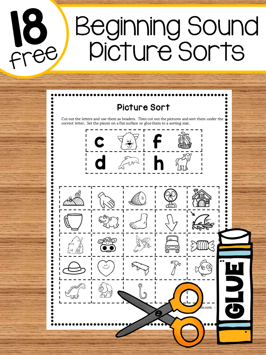 18 free picture sorts for beginning sounds word study beginning sounds phonics activities. Black Bedroom Furniture Sets. Home Design Ideas