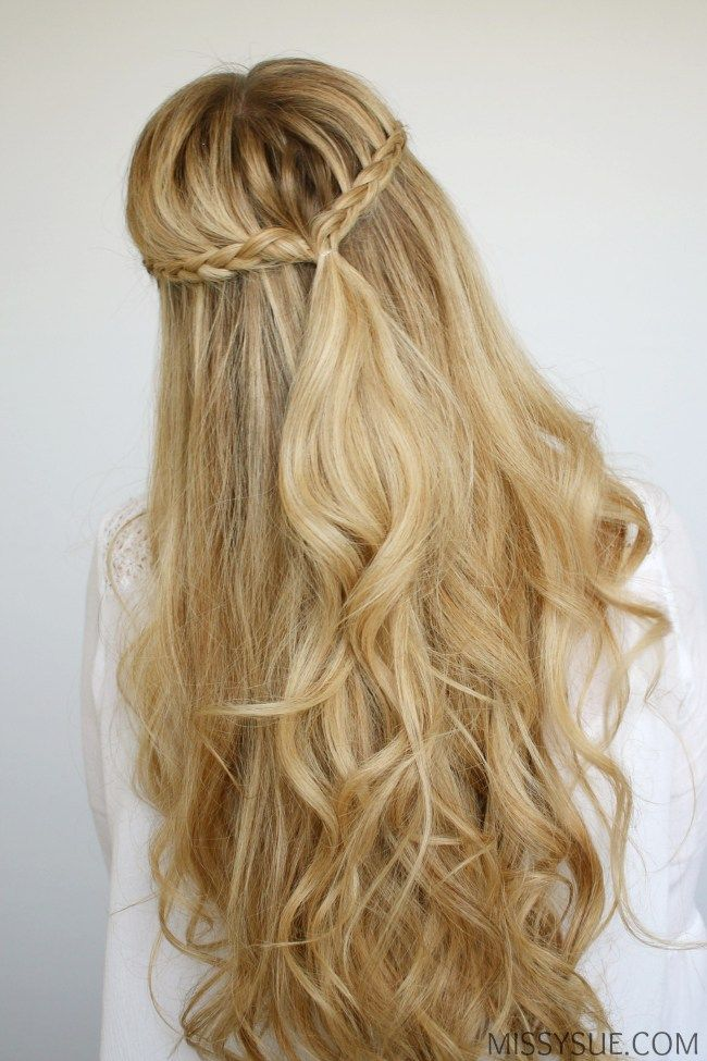 Mini Braids And Beach Waves Missy Sue Prom Hairstyles For Long Hair Beach Wave Hair Straight Prom Hair