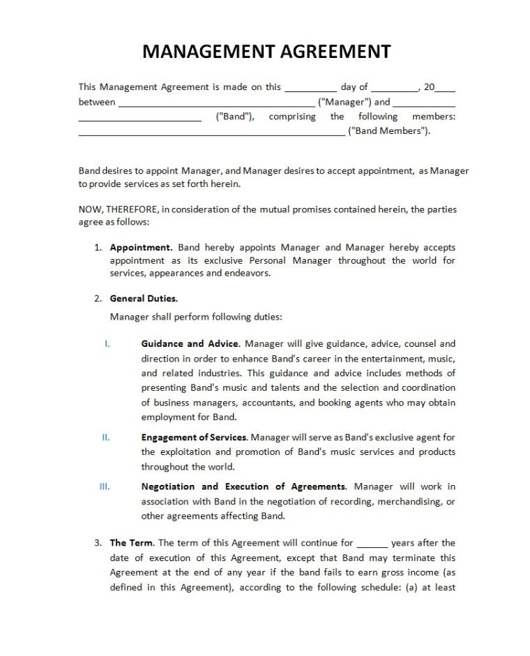 Artist Management Contract  Google Search  CharacterBook