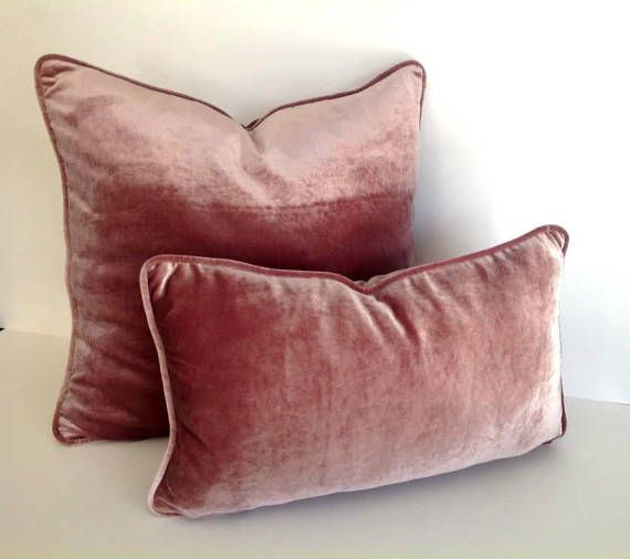 Dusty Rose Velvet Pillow Cover, Dusty Pink Cushion Cover ...