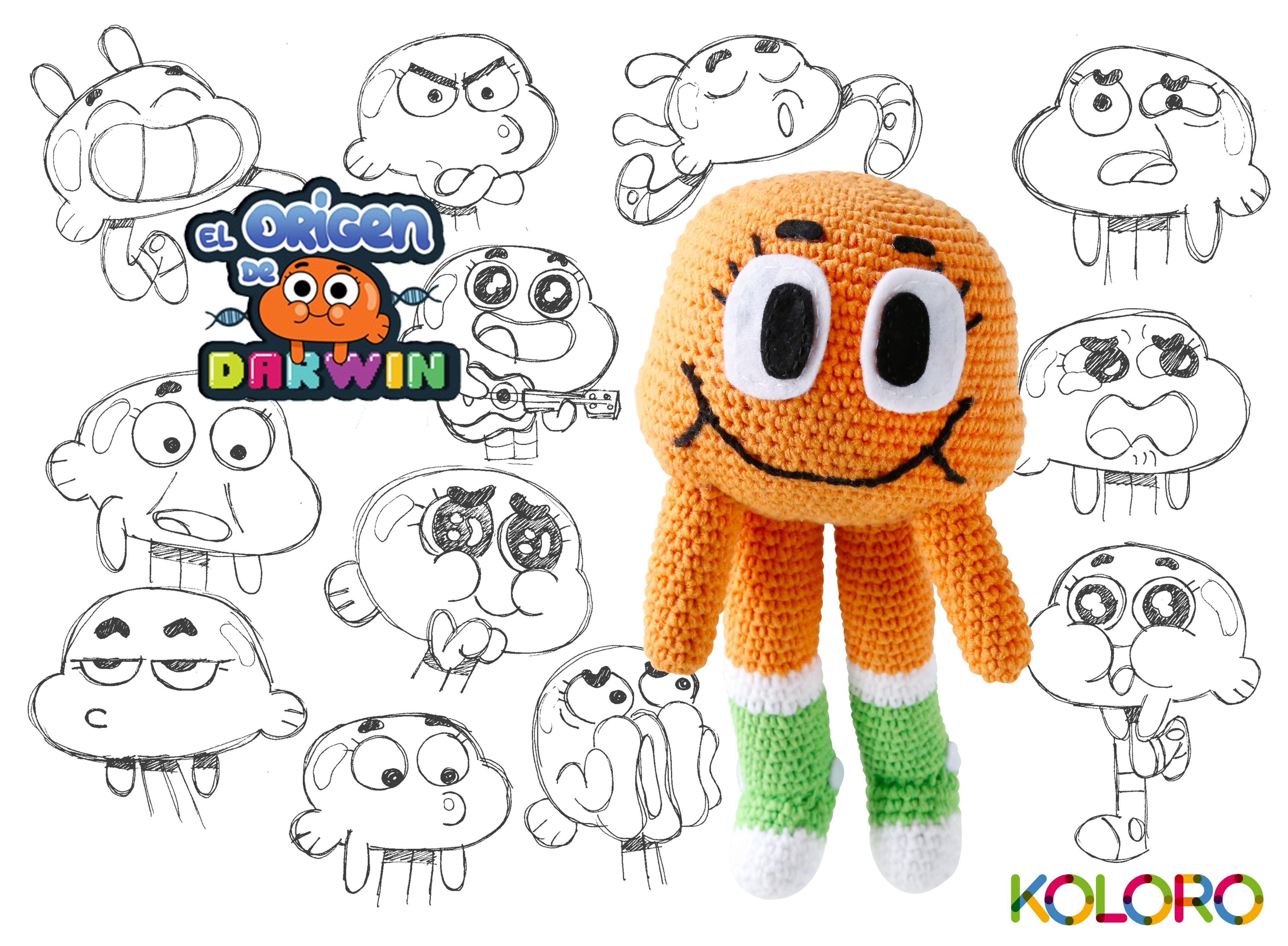 www.facebook.com/koloroshop amigurumi toy Darwin, the amazing world ...