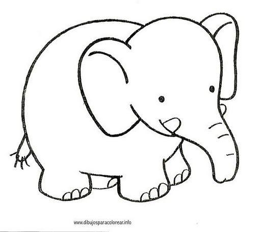 Imagem de Шаблоны por Arina-sonya   Elefante para colorir