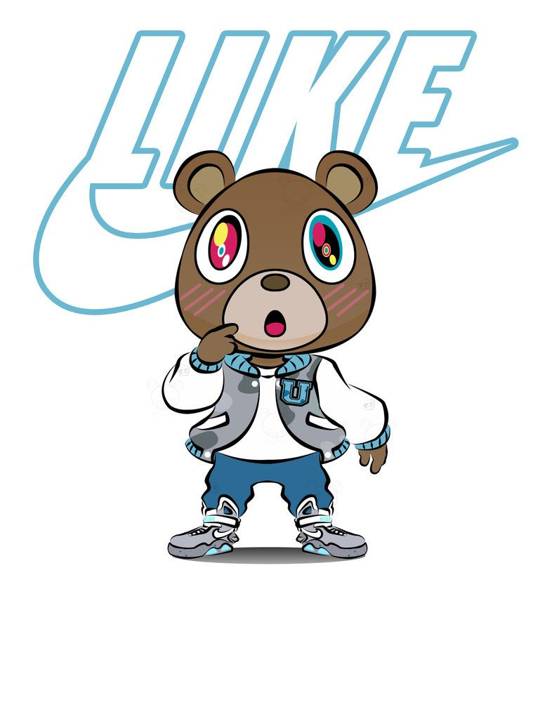 Dropout Bear By Pokori Cartoon Character Design Bear Art Kanye West Graduation Bear