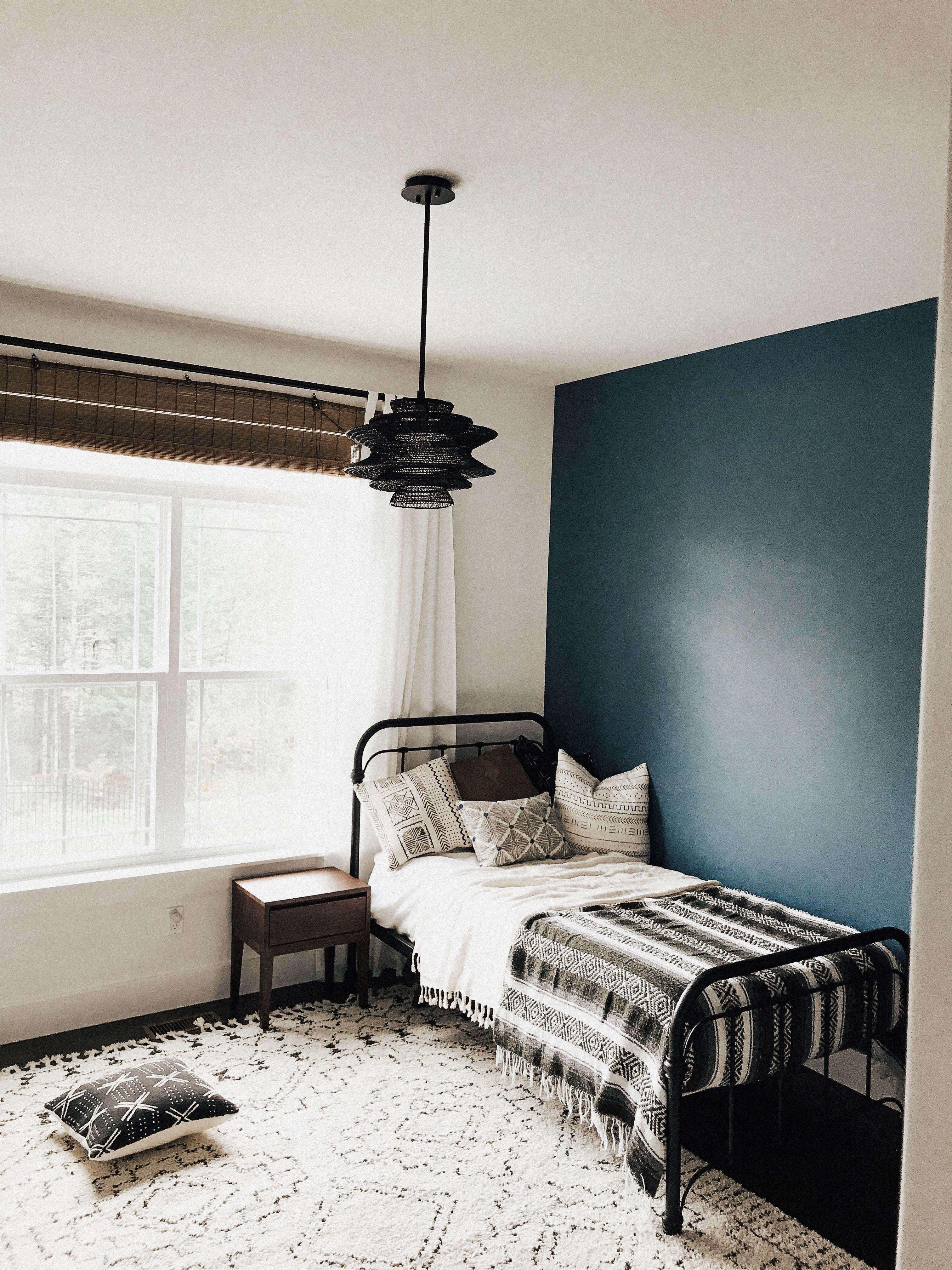 Blue bedroom, boho, neutral   Toddler bedrooms, Blue ...