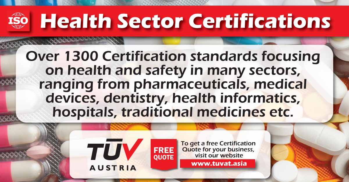 Over 1300 Health Sector Certifications. For further information how ...