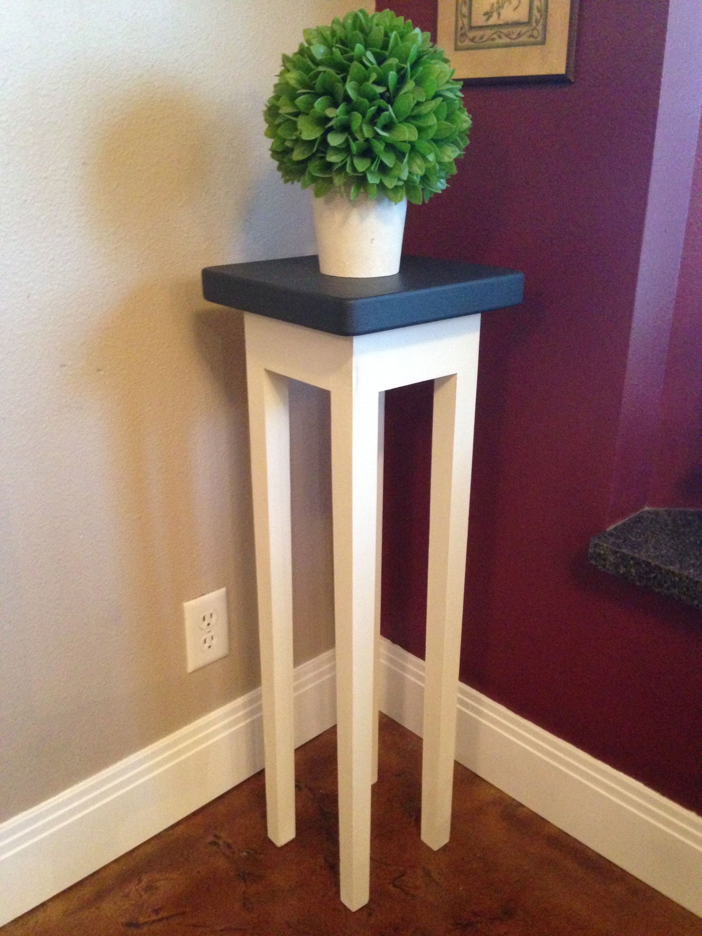 Tall Plant Stand In Annie Sloan Graphite And Old White