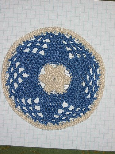 Star Of David Yarmulke Free Crochet Pattern Jewish Crochet