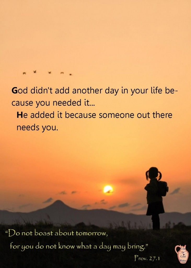 another day from God! Promise quotes, Quote posters
