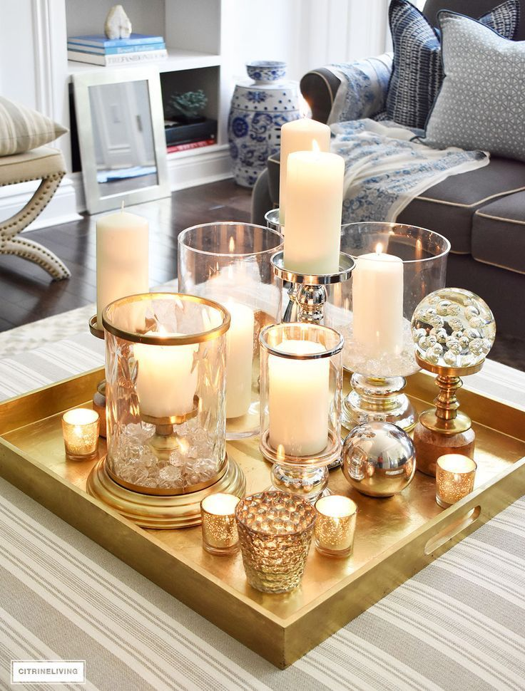 3 WAYS TO STYLE YOUR COFFEE TABLE OR OTTOMAN | Mesas de café ...